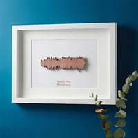 Framed 3D Favourite Song Sound Wave