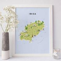 Map Of Ibiza Print