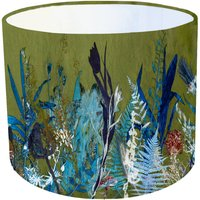 Vibrant Leafy Green Botanical Print Interior Lampshade
