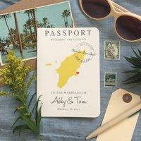 Passport Wedding Invitation Abby