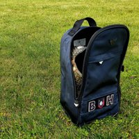 Personalised Sports Boot Bag, Red/Navy