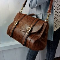 Brown Leather Brix Bag