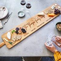 Large Oak Sharing Platter Board Four Ft
