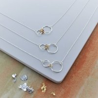 Infinity Family Ring Necklace