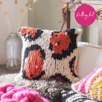 Large Leopard Print Cushion Cover Knitting Kit