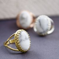 Marble Gemstone Ring