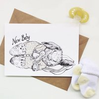 New Baby Baby Bunny Greeting Card