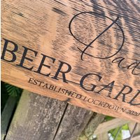 Barrel Stave Garden Sign