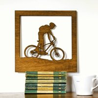 Wood Cut Mountain Bike Artwork