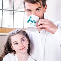 Personalised Daddy And Me Dinosaur Mug