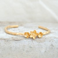 Hawthorn Blossom Bangle In Gold, Gold