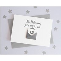 Happy Halloween A Note To Say Boo Envelope Card