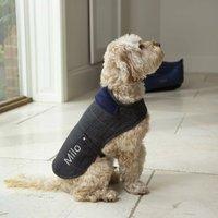 Personalised Tweed Dog Coat