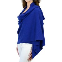 Personalised Unisex Royal Blue Pure Cashmere Wrap Scarf