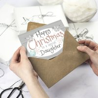 Happy Christmas Daughter Card