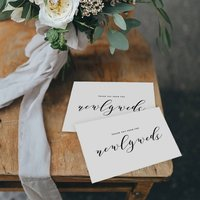 'Thank You From The Newlyweds' Wedding Set Of Five