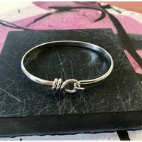 Bayswater Solid Sterling Silver Rope Bangle, Silver