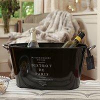 Personalised Parisian Bistro Black Ice Bucket