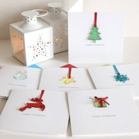 Pack Of Four Personalised Merry Christmas Cards