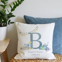 New Baby Initial Cushion