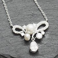 Dainty Pearl And Crystal Necklace