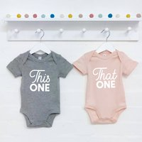 Twins This One And That One Babygrow Set