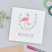 Flamingo New Baby Card