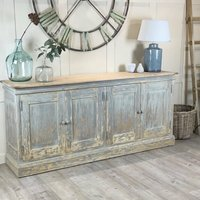 Large Distressed Painted Buffet Sideboard Cupboard