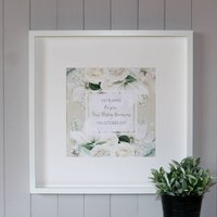 Personalised First Wedding Anniversary Canvas Print