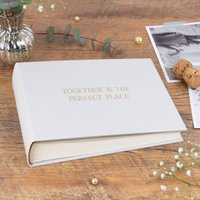 Personalised Wedding Photo Album Classic Linen