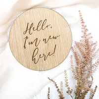 Wooden Milestone Card