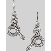 Snake Hoops In Silver Or Gold, Silver