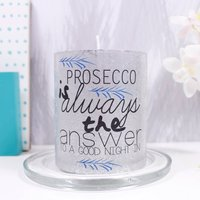 Gin 'Is Always The Answer' Alcoholic Theme Candle, Silver/Champagne/Gold