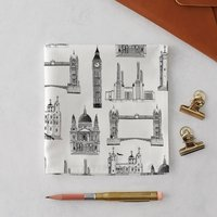 London Buildings Handkerchief Pocket Square
