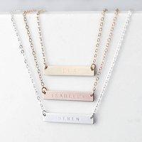 Personalised Horizontal Bar Necklace
