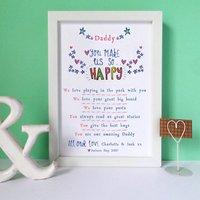 Personalised Six Reasons Why I Love You Print