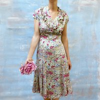 Floral Summer Garden Party Tea Dress
