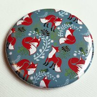 Magnet With Fox Pattern
