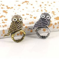 Spooky Owl Ring, Gold/Silver