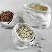 White Cotton Food Storage Bag Various Size