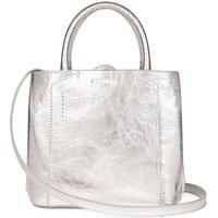 Vegan Mini Handbag: Silver