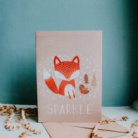 Red Fox And Robin Christmas Festive Cards