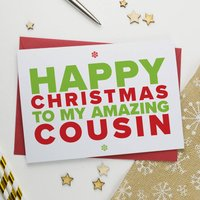 Christmas Card For Amazing Cousin