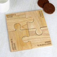 Personaised Jigsaw Coaster Set Gift