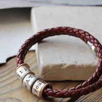 Identic Eight Story Bracelet, Dark Brown/Brown/Black