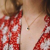 Bali 9ct September Birthstone Necklace Lapis Lazuli