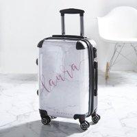 Blush White Marble Personalised Suitcase