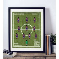 'Framed All Time Xi Favourite Football Team Print'