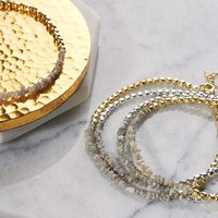 Gold/Silver Single Champagne Diamond Bracelet, Silver