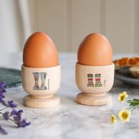 Personalised Grandma And Me Wooden Egg Cups